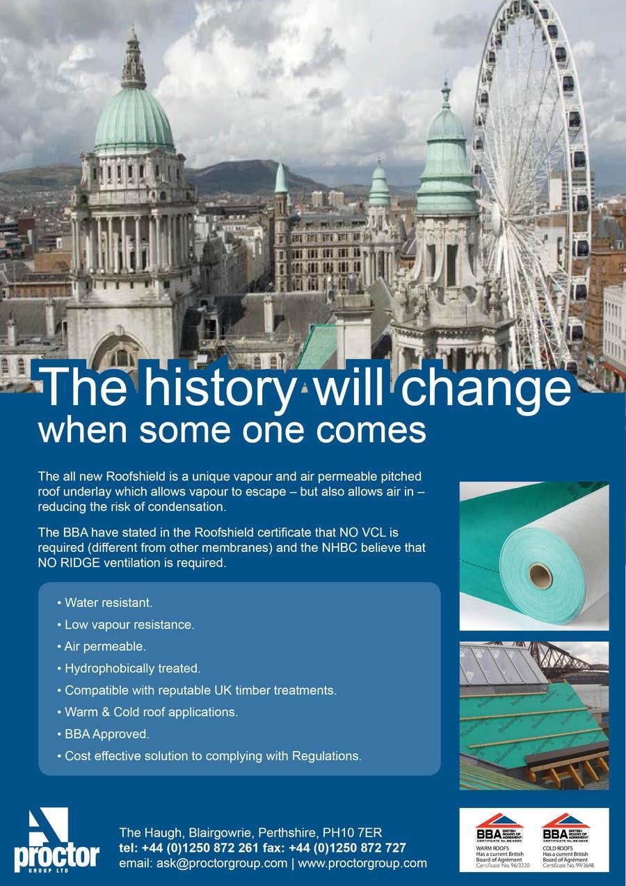 Proposition n°49 du concours Roofshield Advertisement Design for A. Proctor Group Ltd