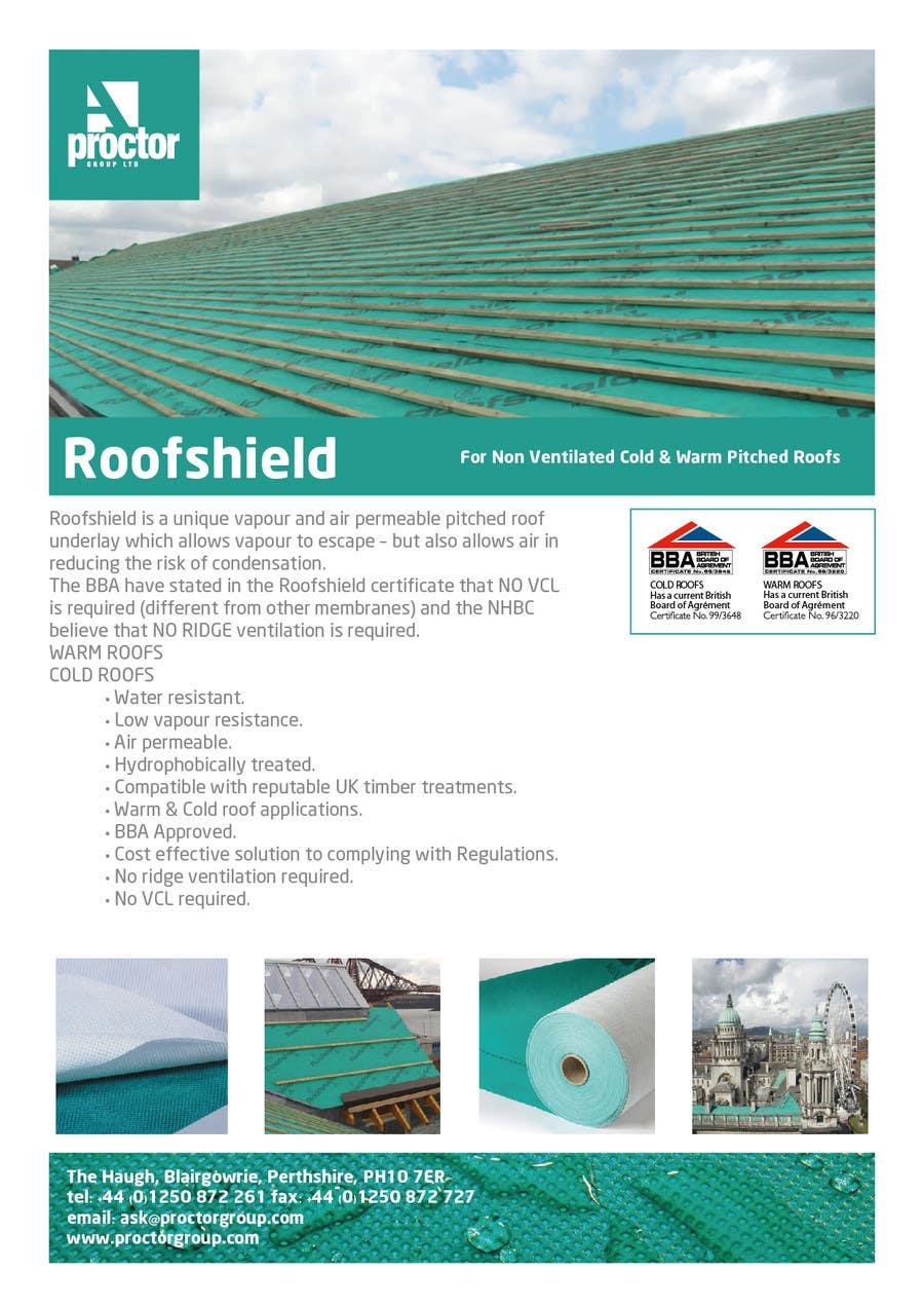 Конкурсная заявка №68 для Roofshield Advertisement Design for A. Proctor Group Ltd