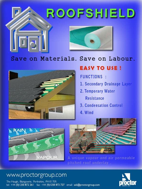 Proposition n°129 du concours Roofshield Advertisement Design for A. Proctor Group Ltd
