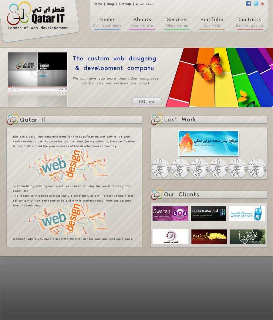 Inscrição nº                                         8                                      do Concurso para                                         Website Design for Qatar IT