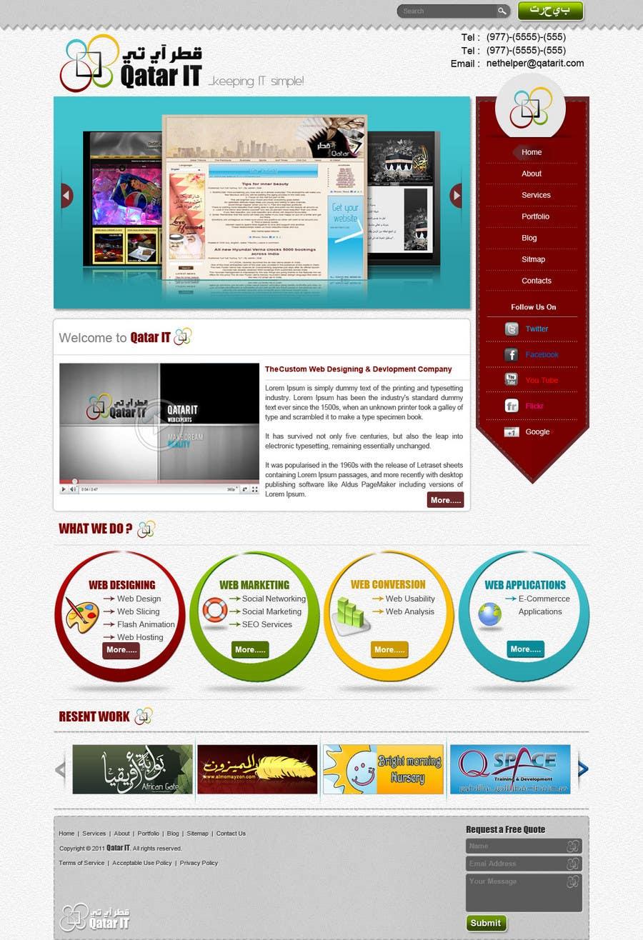 Bài tham dự cuộc thi #                                        127                                      cho                                         Website Design for Qatar IT