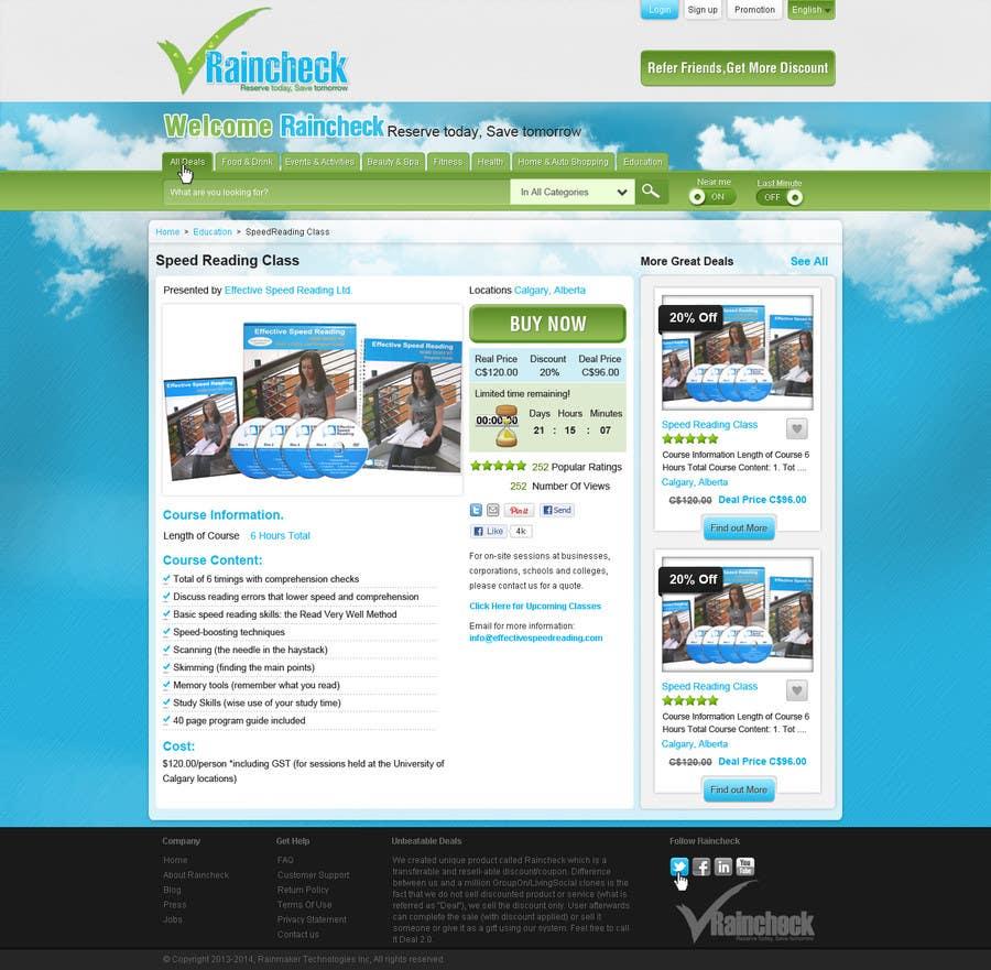 Konkurrenceindlæg #19 for Website Design for Raincheck
