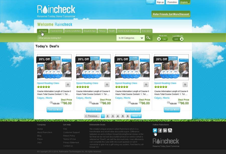 Konkurrenceindlæg #24 for Website Design for Raincheck