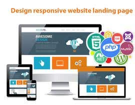 #16 for Design responsive website landing page, following and existing design by mainking86