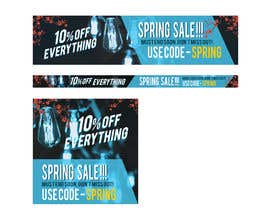 #19 para Design 3 x Banners - For Spring Sale de eyesword