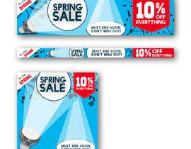 #41 para Design 3 x Banners - For Spring Sale de johnlopevsite