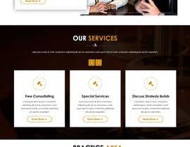 designsdotstudio tarafından Home page layout concept for law firm için no 8