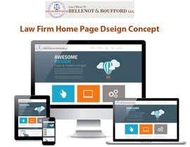 mainking86 tarafından Home page layout concept for law firm için no 2