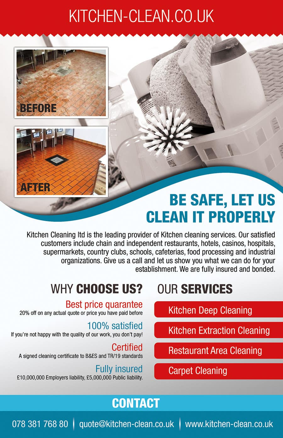 design a flyer for kitchen cleaning company lancer 11 for design a flyer for kitchen cleaning company by izabela1