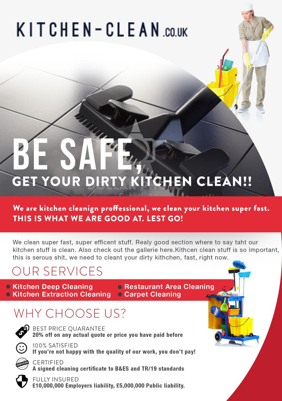 entry by silvi for design a flyer for kitchen cleaning contest entry 3 for design a flyer for kitchen cleaning company