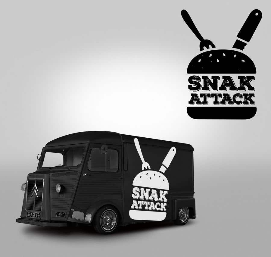 "Entry #21 by FVinas for Logo for food truck name ""Snak"