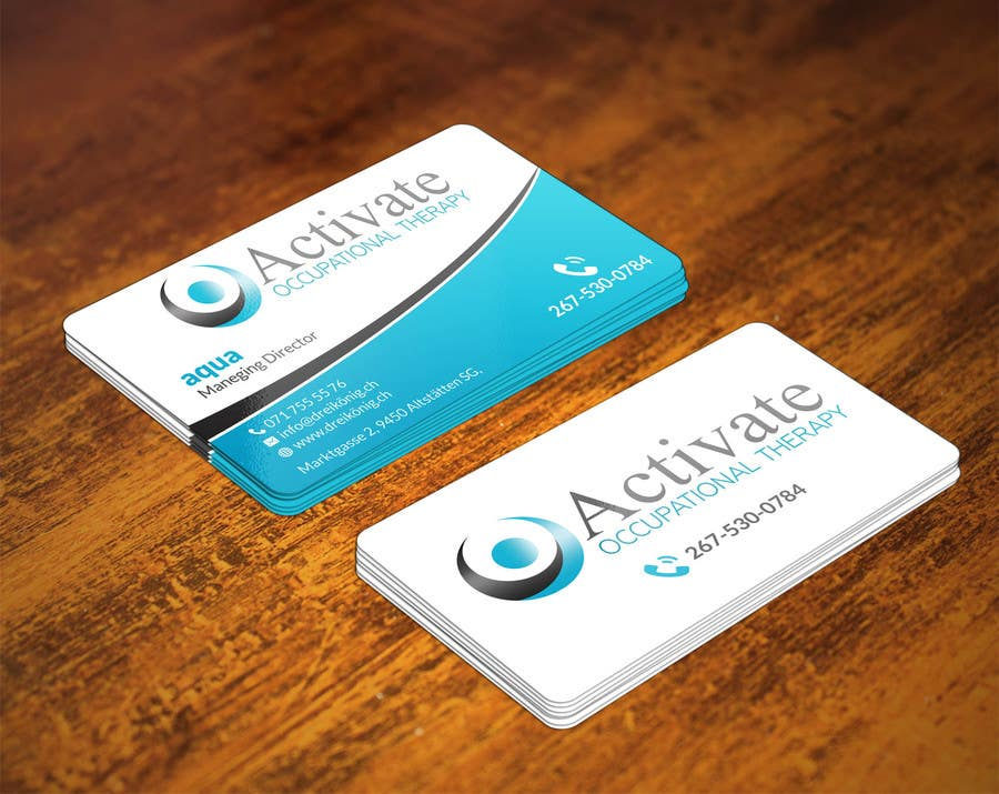 Penyertaan Peraduan #                                        67                                      untuk                                         Design some Business Cards for Activate Occupational Therapy