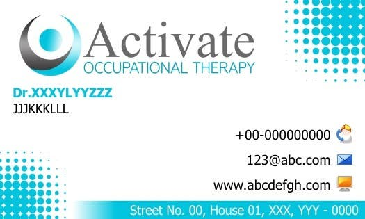 Penyertaan Peraduan #                                        2                                      untuk                                         Design some Business Cards for Activate Occupational Therapy