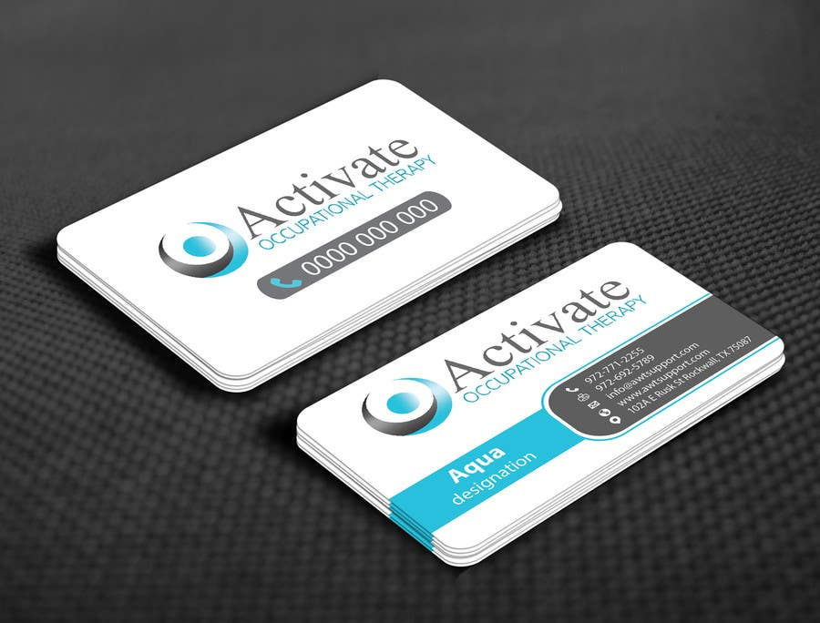 Penyertaan Peraduan #                                        60                                      untuk                                         Design some Business Cards for Activate Occupational Therapy