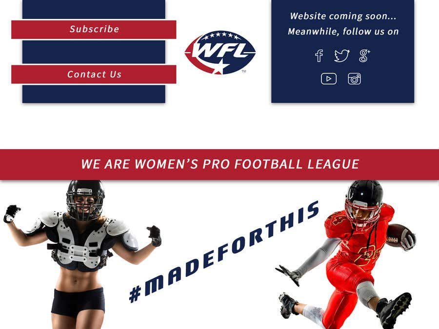 Konkurrenceindlæg #34 for American Football Webpage