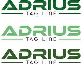 "#7 Beautiful Typography of ""ADRIUS"" Word Logo részére nurallam121 által"