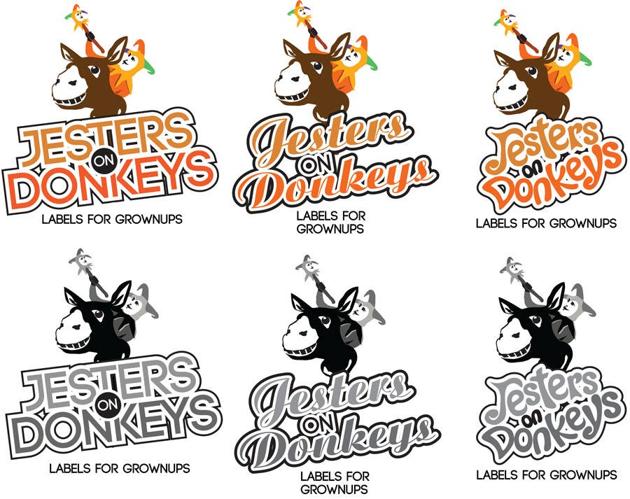 "#54 for This should be fun: ""Jesters on Donkeys"" looking for company logo design by labebe"