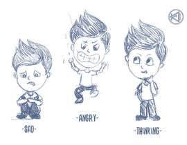Nro 6 kilpailuun Draw a cartoon boy with 4 facial expressions käyttäjältä kcjneththie
