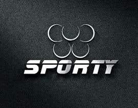 #43 for Sporty- logo af designhunter007
