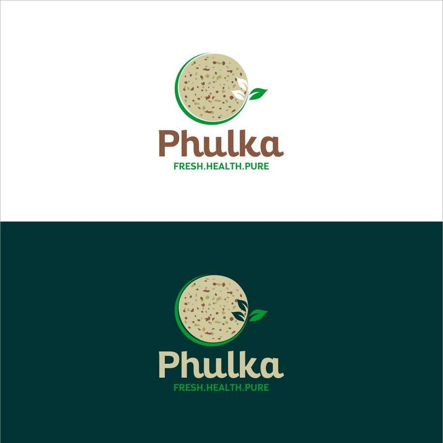 Kilpailutyö #5 kilpailussa Modern Logo design for Company selling Roti (Indian Dailily Bread). Name is Phulka (Tag line Fresh.Healthy.Pure)
