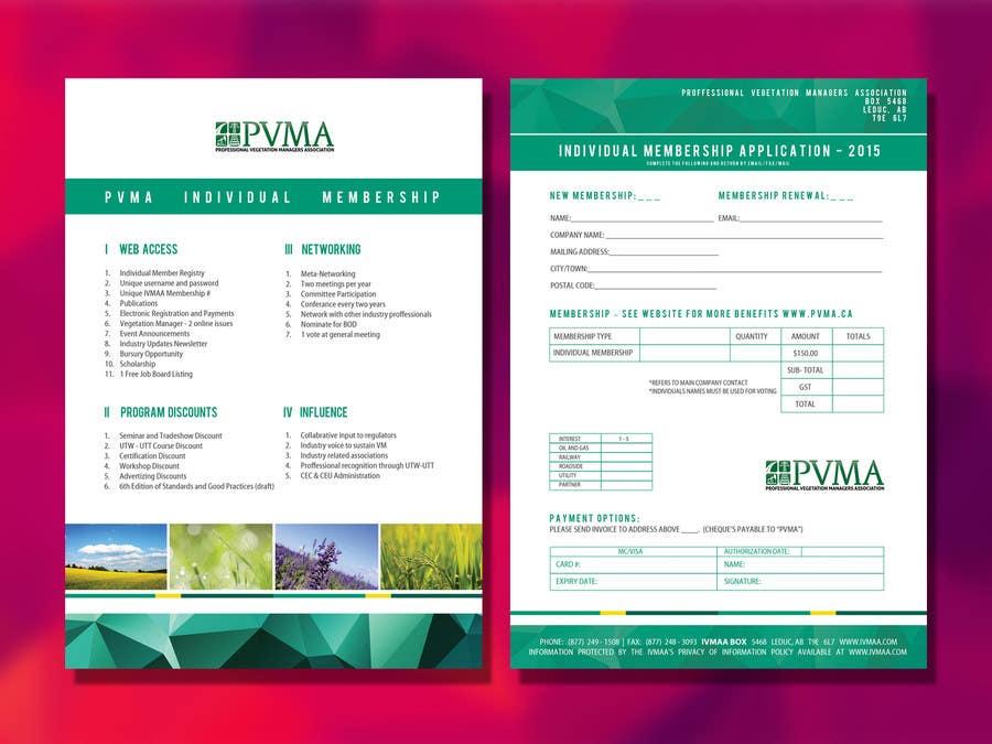 Inscrição nº                                         1                                      do Concurso para                                         Design a Brochure for PVMA