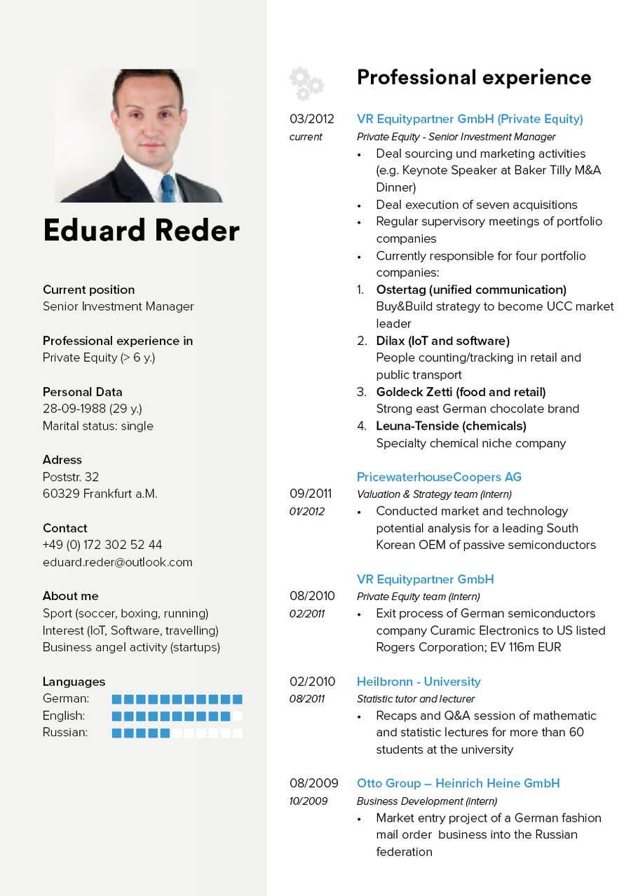 Entry 2 By Buixe For Design Update Of Curriculum Vitae