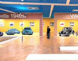 krishancool tarafından Illustrate an interior with visitors and attractions for a modern VW Beetle museum için no 53