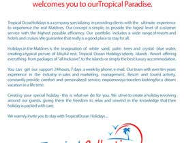 pm01creative tarafından Brochure Design for Tropical Collections Maldives Pvt Ltd. için no 5