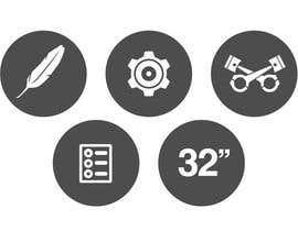 #10 cho Design some Icons for motorsports company site bởi Slkline
