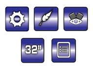 Bài tham dự #5 về Graphic Design cho cuộc thi Design some Icons for motorsports company site