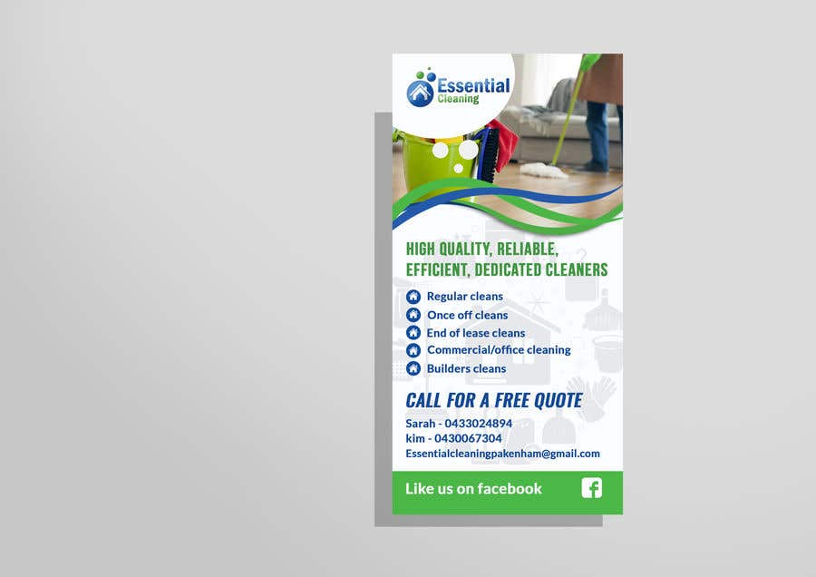 Entry #24 by TohaAshrak for DL size flyer for home cleaning