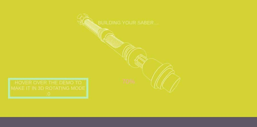 Entry #7 by Zyoudyy for Preloader Animation for Lightsaber Website