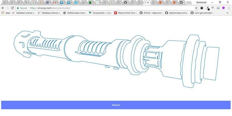 Entry #3 by mrsafraz for Preloader Animation for Lightsaber