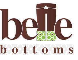#214 dla Logo Design for belle bottoms iron-on pant cuffs przez ajimonchacko