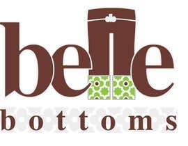 #215 dla Logo Design for belle bottoms iron-on pant cuffs przez ajimonchacko