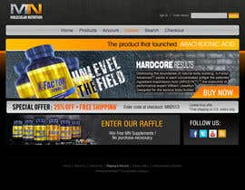 nº 58 pour Website for Sports Nutrition Co. NO CODING / GFX ONLY par Macroads