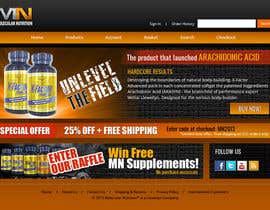 #55 para Website for Sports Nutrition Co. NO CODING / GFX ONLY por Pavithranmm