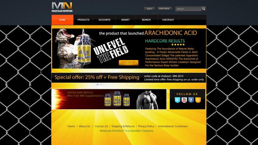 Penyertaan Peraduan #                                        29                                      untuk                                         Website for Sports Nutrition Co. NO CODING / GFX ONLY
