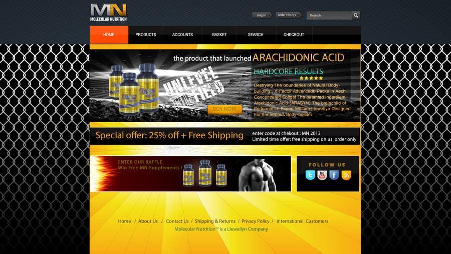 Penyertaan Peraduan #                                        30                                      untuk                                         Website for Sports Nutrition Co. NO CODING / GFX ONLY