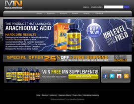 nº 67 pour Website for Sports Nutrition Co. NO CODING / GFX ONLY par julianikolaeva