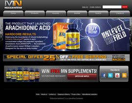 nº 63 pour Website for Sports Nutrition Co. NO CODING / GFX ONLY par julianikolaeva