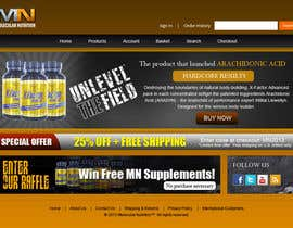 nº 61 pour Website for Sports Nutrition Co. NO CODING / GFX ONLY par WoodpeckerIn