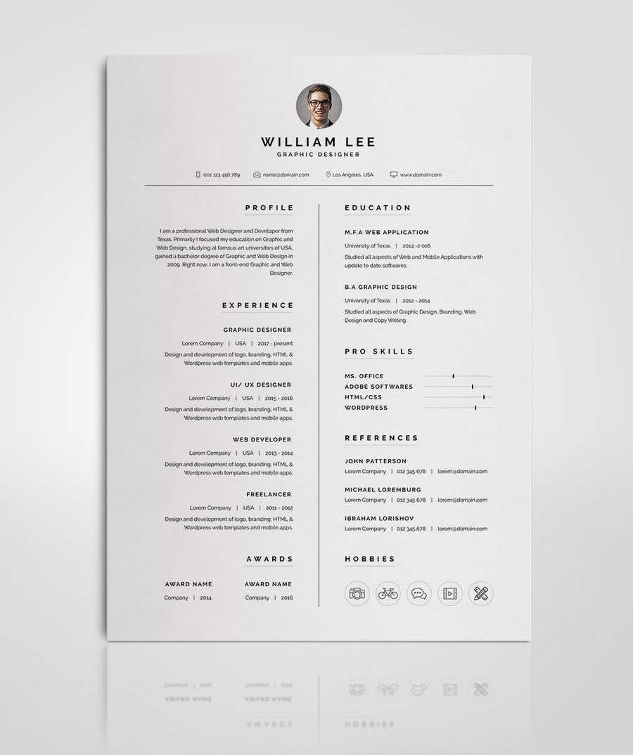 Entry #57 by mehfuz780 for 10 original CV templates + cover letters ...