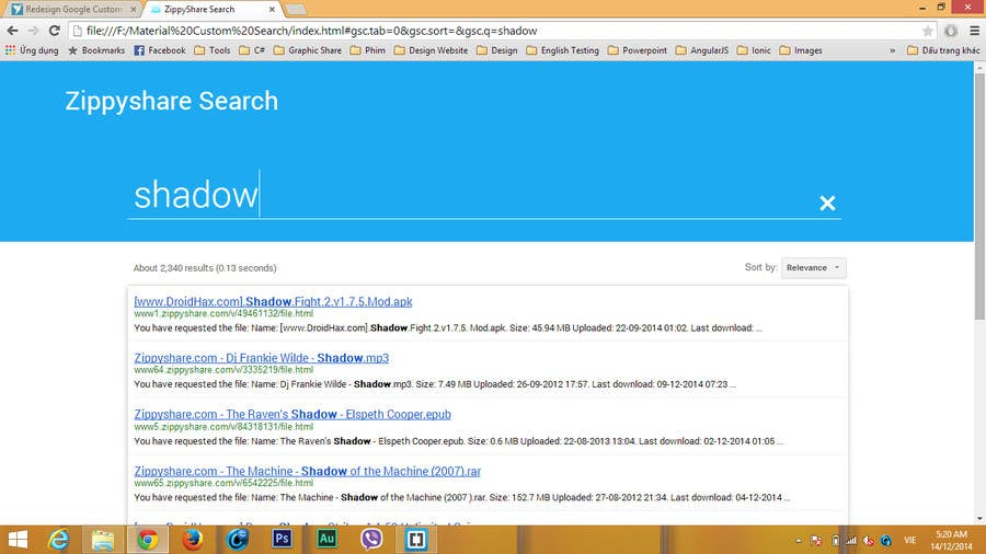 Entry #5 by pmtandhqn for Redesign Google Custom Search