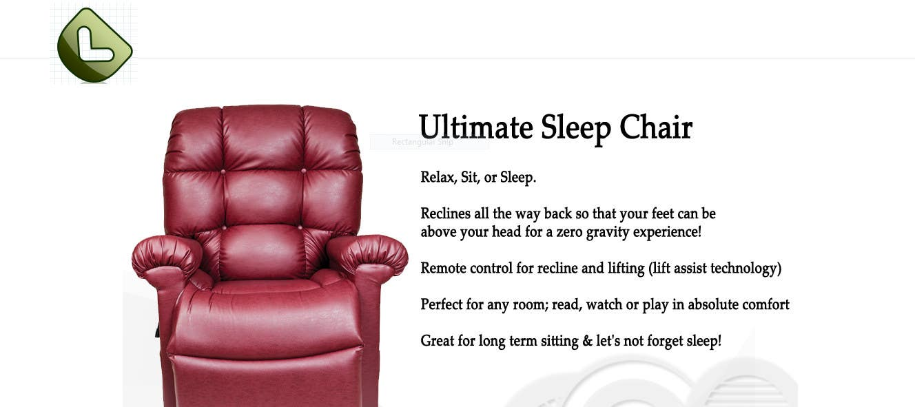 entry 32 by ronyrn for design a logo for ultimate sleep chair