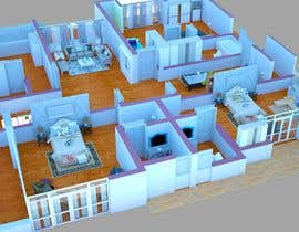 peaceimad tarafından I need some Graphic Design: 3D rendering of the attached plan için no 18