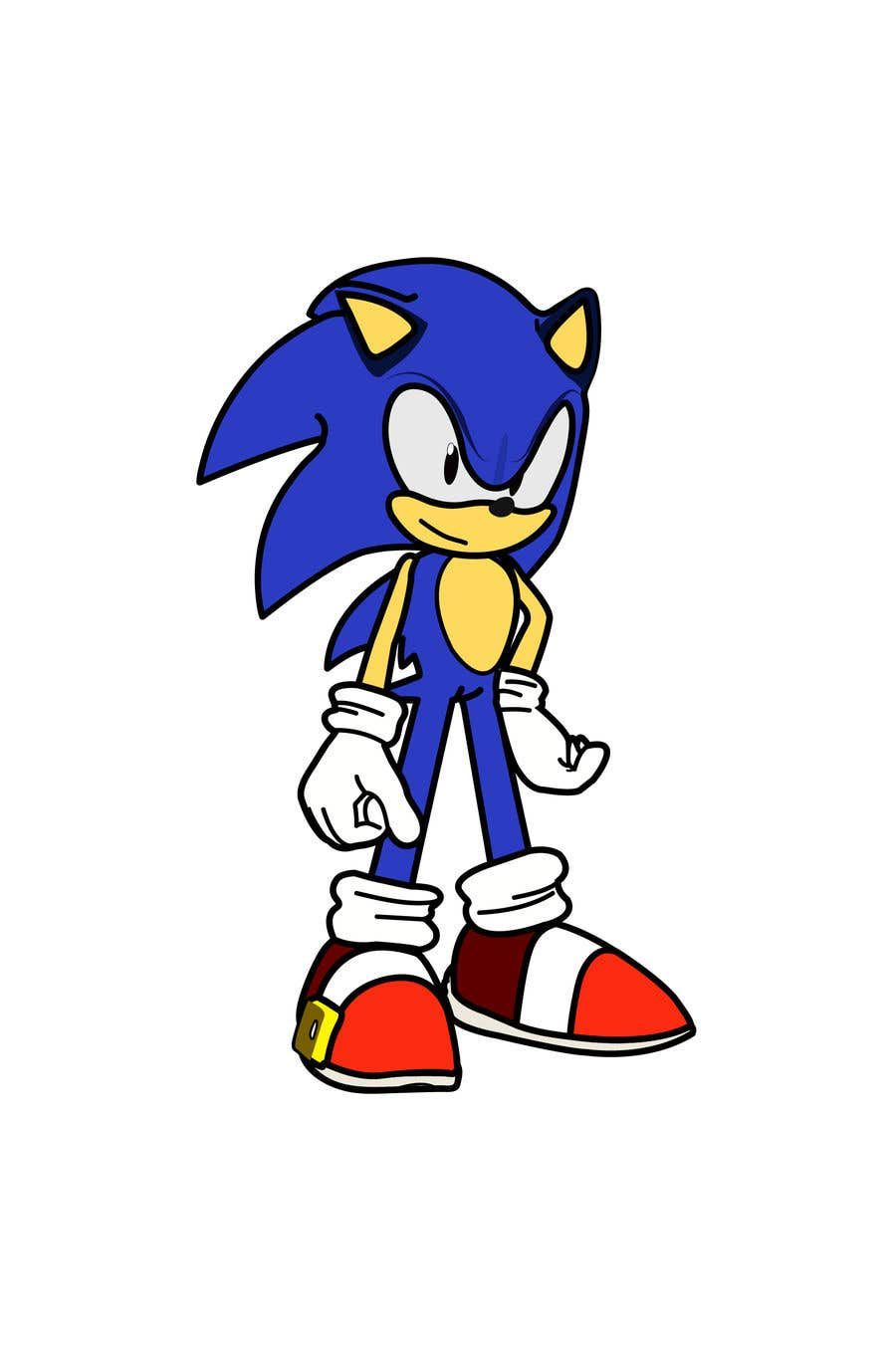 Entry 6 By Fauziat For Draw Sonic The Hedgehog In Ahoodie Avatar Style Freelancer