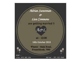 Nro 10 kilpailuun Wedding Invite käyttäjältä MaryamKha
