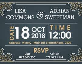 Nro 3 kilpailuun Wedding Invite käyttäjältä Asjad047