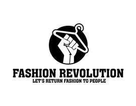 Nro 10 kilpailuun Create a black and white logo of the fashion revolution käyttäjältä artdjuna